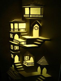 Oh dear, I think I might have found another craft I want to try!! ★ Origamic Architecture Instructions & Free Kirigami Templates ★