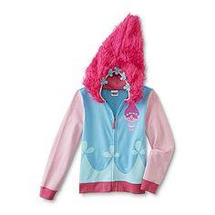 DreamWorks Trolls Girls' Hoodie Jacket - Poppy - Kmart