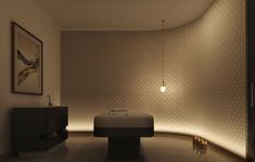 Mimar Interiors Massage Room, Spa Massage, Spa Design, Modern Design, Interior Lighting, Lighting Design, Indirect Lighting, Modern Pools, Wellness Spa