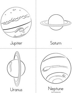 Solar System Mini Book - Sheet 2