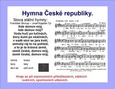 STÁTNÍ SYMBOLY :: Béčko-Tc European Countries, I School, Czech Republic, Bohemia
