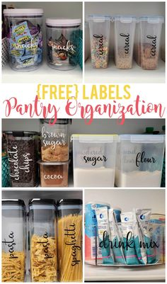 Pantry organization labels are key to having a well organized pantry. Grab this FREE cut file and get started today!