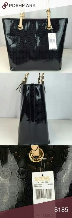 """Michael Kors Jet Set This bag is new with tags and the bag height is 11 """" , strap drop 10 """" , bag length 14 """" & depth 6 """". Michael Kors Bags Shoulder Bags"""