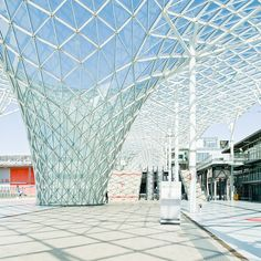 Milan Exhibition Center by Massimiliano Fuksas Concept Models Architecture, Public Architecture, Residential Architecture, Architecture Details, Landscape Architecture, Interior Architecture, Tree Structure, Space Frame, Parametric Design