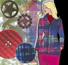 Strange Reflections skizziert den modernen Spirit der Punk- und Grunge-Bewegung. #unionknopf #mode #trends #buttons #knöpfe #diy #nähen #retail #handel