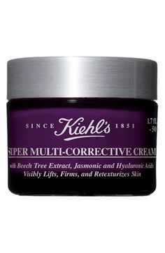 @Kristin Iehl's  Super Mulit-Corrective Cream is made with jasmonoic acid that helps repair wrinkles and fine lines, beech tree extract to improve skin firmness, fragmented hyaluronic acid to improve skin elasticity and smoothness.
