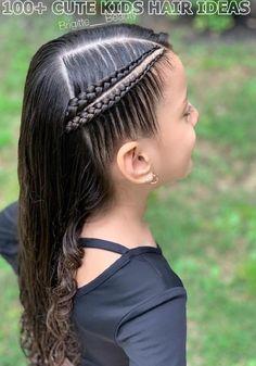 Lovely Kids Braided Hair Ideas For 2020 New Trendy Hair Ideas Baddie Hairstyles, Box Braids Hairstyles, Trendy Hairstyles, Braided Hairstyles For Kids, Funny Hairstyles, Wedding Hairstyles For Girls, Little Girl Hairstyles, Kids Hairstyle, Black Hairstyle
