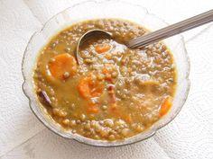 Recette de Soupe de lentilles vertes au lard