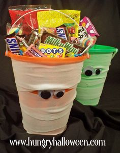 Hungry Happenings: Halloween Craft - Mummy Buckets plus a Giveaway