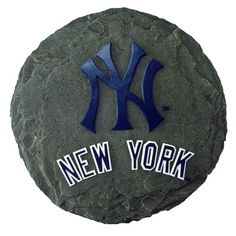 "MLB New York Yankees Stepping Stone  Our 13.5"" round shaped Stepping Stone/ Wall Plaques are a great way of rooting for your team on the lawn, in the garden, or on the wall  These licensed stepping stones are expertly carved and skillfully hand painted by trained artisans to show your favorite team  Made of 100% resin  They look great by themselves or in a group along a walkway or border"