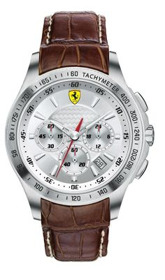 Scuderia Ferrari Chronograph Leather Strap Watch, available at Mens Watches Leather, Leather Men, Watches For Men, Brown Leather, Luxury Watches, Rolex Watches, Ferrari Watch, Watch Master, Thing 1
