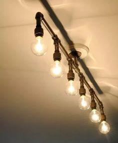lámpara de techo industrial edison globo (focos incluidos)