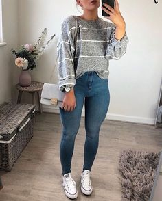 Pin on cute outfits 3 pin on cute outfits 3 anziehen, persönlicher stil, sc Cute Outfits For School, Cute Casual Outfits, Cute Outfits For Fall, Casual Church Outfits, Spring Outfits, Back To School Outfits For College, College Girl Outfits, Cute Everyday Outfits, Simple Winter Outfits