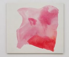Mary Weatherford rose pink cave,  2012  Flashe on canvas  44 x 50 inches (111.8 x 127 cm)