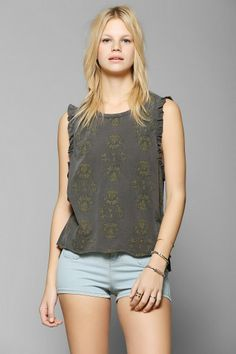 Chaser Lace Trim Versailles Tank Top #urbanoutfitters