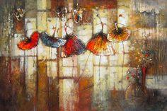 Mouvements délicats par Irene Gendelman, artiste présentement exposé aux Galeries Beauchamp. www.galeriebeauchamp.com