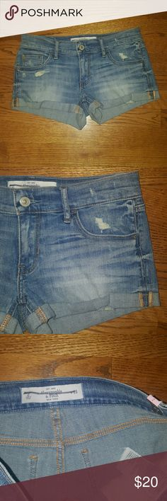 NEW Abercrombie cut off shorts size 2 NEW Abercrombie and Fitch summer cut off denim shorts. Size 2.  Great to put up for summer! Abercrombie & Fitch Shorts