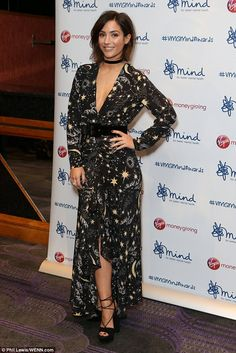 A true star: Frankie Bridge, 27, made a glamorous appearance at the Virgin Money Giving Minds Awards 2016 on Monday - one day after her husband Wayne's debut on I'm A Celeb