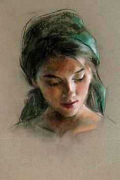 Bilderesultat for portraits pastel paintings of Nathalie Picoulet Portraits Pastel, Watercolor Portraits, Watercolor Paintings, Pastel Paintings, Pastel Drawing, Pastel Art, Figure Painting, Painting & Drawing, Chalk Pastels
