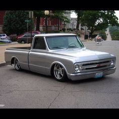 """""""Hot Wheels - Damn this C10 is clean, love the stance, sweet silver paint and finish! Merry Xmas to our northern hemisphere followers. #chevrolet #gmc #c10…"""""""