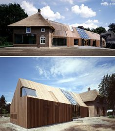 Old barns and farm buildings often fall into unsightly disuse, but this project by Bjarne Mastenbroek and his Amsterdam-based architecture firm SeARCH proves that such buildings can be not only rescued from ruin, but transformed into stunning hybrids of traditional and modern architecture.