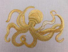 Goldwork Octopus by RSN Student Chrissie Juno Mann