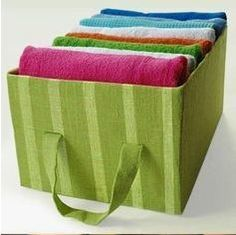 Turn a cardboard box into a fun storage bin or fill it with party favors at a party - DIY real Decorative Storage Bins, Storage Boxes, Storage Containers, Storage Room, Cardboard Storage, Cardboard Crafts, Cardboard Boxes, Linen Closet Organization, Diy Organization