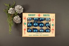 Vintage Shiny Brite Blue Glass Christmas Tree by Circa810 on Etsy, $15.00