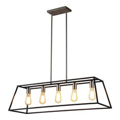 OVE Decors Agnes Matte Black and Brushed Nickel Farmhouse Cage Chandelier at Lowe's. The Agnes II chandelier from OVE Decors, featuring clean, simple styling, adds a transitional look to your space. A beautiful possibility along a table or Kitchen Island Lighting, Dining Room Lighting, Home Lighting, Lighting Ideas, Dining Rooms, Hallway Lighting, Island Kitchen, Lighting Store, Kitchen Reno