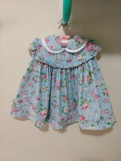 Vestido Azul Claro Florido