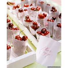 little bags of cherries