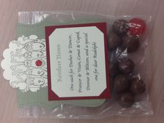 I was given this for a Christmas gift from a student... Very cute!  Reindeer Noses 1 chocolate malt ball for each reindeer and a red jujube for Rudolph