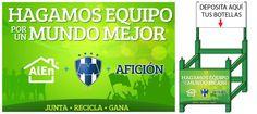 Acude al Estadio Tecnológico este sábado con tus envases PET y apoyemos a la Campaña #LimpiemosMonterrey SeResponsable  ---  Si te gusta la imagen ¡Compártela!    +Info: https://www.facebook.com/notes/club-de-futbol-monterrey-oficial/rayados-hagamos-equipo-por-un-mundo-mejor/512513945442220