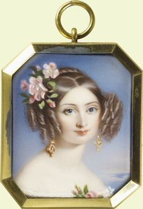 Explore Royal Collection Trust exhibitions past and present Royal Collection Trust, Victorian Valentines, Victorian Hairstyles, Examples Of Art, Miniature Portraits, Her Majesty The Queen, Woman Painting, Portrait Photo, Vintage Photos