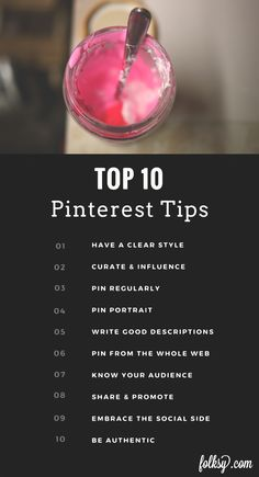 TOP 10 pinterest tips from Folksy.