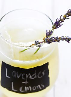 Summer calls for sparkling lavender lemonade.