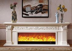 Installation Type: FreestandingType: Other FireplacesSize: Number: Indooris_customized: Yes,size custom madeMain material: wooden (oak) mantel,iron insertWorking voltage: decorating / heating switched,remote controlledWorking principle: Wooden Fireplace, Stove Fireplace, Fireplace Remodel, Fireplace Inserts, Living Room With Fireplace, Living Room Decor, Home Entrance Decor, Home Decor, Oak Mantel