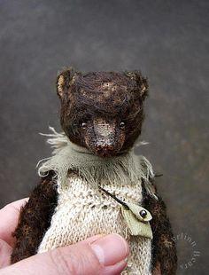 SOLD  ♔Izannah, One Of a Kind Mohair Artist Bear Doll by Aerlinn Bears....OMG