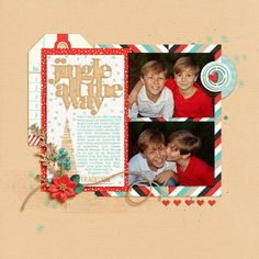 Digital Scrapbook Template - Merry and Bright DYD 2016   Scrapping with Liz