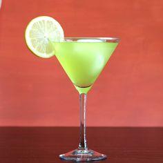 Green Dinosaur drink recipe: tequila, vodka, rum, Midori, lemonade