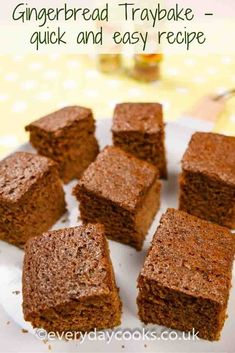 Gingerbread Traybake is quick and easy to make for tea.
