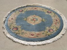Barsamian Topakian Plush Hand Woven Japanese French Floral Aubusson Rug 4ft+fri #ChineseArtDecoAubussanFloral