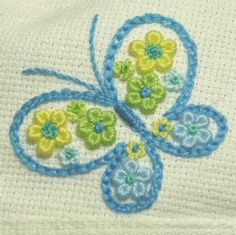 Marvelous Crewel Embroidery Long Short Soft Shading In Colors Ideas. Enchanting Crewel Embroidery Long Short Soft Shading In Colors Ideas. Embroidery Needles, Hand Embroidery Stitches, Crewel Embroidery, Hand Embroidery Designs, Embroidery Techniques, Butterfly Embroidery, Silk Ribbon Embroidery, Embroidery On Clothes, Needlework