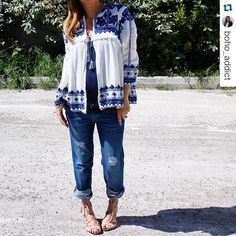 Front view thanks @boho_addict @boho_addict with @repostapp. ・・・  #latergram #ootd #stylethebump #jeans #fivejeans #ootd #outfit #outfits #instacool #instagood #instalike