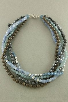Blue Waters Necklace ~ Measurements: 14-17 inches long Price: $14.99