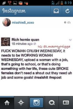 Wcw Woman Crush Wednesday Imstagram Funnies True Truth Quotes