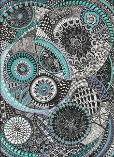 Zentangle Print by Lynne Howard.  All prints are professionally printed, packaged, and shipped within 3 - 4 business days. Choose from multiple sizes and hundreds of frame and mat options.