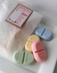 Chill Pill Soap. So cute. Cute nursing grad  gift.