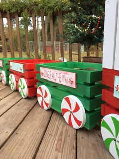 me and my crafties little christmas crate train