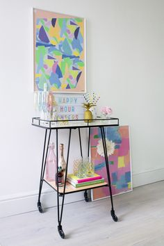 How to style an Oliver Bonas bar trolley.